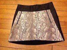 Adolfo Dominguez Black/White Snake Skin Print Skirt, Size 4 (US) 38 (EU) NWT!