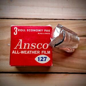 1 Roll of Ansco 127 Black & White Unexposed Film
