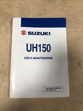 Manuale uso manutenzione Suzuki UH150