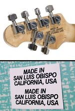2 Music Man Headstock Back Decal Waterslide Guitar Bass Musicman Sting Ray