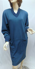 VINTAGE MISSONI Blue Wool Pocket DRESS ITALY SZ M