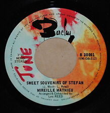 Mireille Mathieu Sweet Souvenirs of Stefan / Sometimes French Pop 45 on Barclay