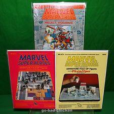 MARVEL Super Heroes 1984 Set of TSR Modules Sealed FANTASTIC FOUR AVENGERS X-MEN