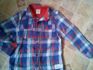 FRUGI boys Warm Shirt Age 5-6 organic cotton check