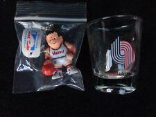 VINTAGE Portland Trail Blazers Shot Glass & L'IL Brat Basketball Player 2 Pc. #2