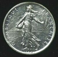 1960 - FIVE FRANCS - FRANCE - SILVER - BU CONDITION GEM