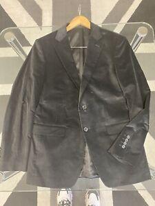 Black Velvet Blazer Jacket Size UK 38 EU 48