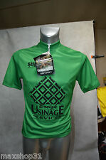 MAILLOT VERT VELO SUBL LINEI NEUF TAILLE M/3/ CYCLISME/BIKE JERSEY /MAGLIA