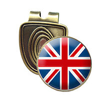 UNION JACK FUSION CAP CLIP & MAGNETIC GOLF BALL MARKER IN BRONZE
