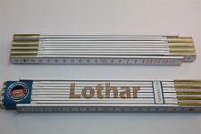 Zollstock mit Namen      LOTHAR    Lasergravur 2 Meter Handwerkerqualität