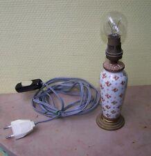 Pied de lampe Ancienne Porcelaine de Paris Bronze ciselé