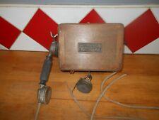 ANCIEN TELEPHONE MURAL A MANIVELLE EN BOIS MODELE 1910