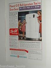 1940 General Electric advertisement, GE, refrigerator