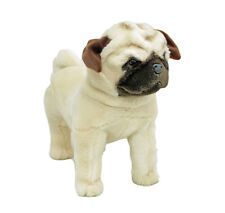 "Pug Dog Standing stuffed animal Pugley 16""/40cm soft plush toy Bocchetta NEW"