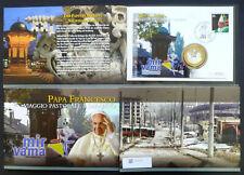Vatikan Numisbrief / Medaillenbrief Papst Franziskus Sarajevo 2015 im Folder