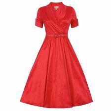 LINDY BOP 'Vanda' Vintage Style Red Party Dress. Size 10