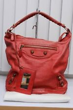 Balenciaga Red Giant 12 Day Hobo Shoulder Bag RGGH Used Authentic Dustbag 2012