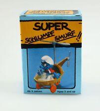 Figurine plastique Schtroumpfs (Les) Schtroumpf hélicoptère +boite