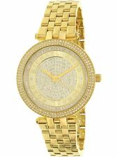 Michael Kors Women's Mini Darci MK3445 Gold Stainless-Steel Plated Japanese Q...