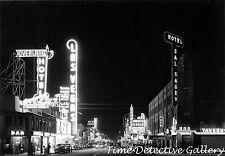 Fremont Street, Las Vegas, Nevada - 1940s - Vintage Photo Print