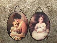 2 Vintage Gallery Graphics Inc. Victorian Baby Girl Wall Hanging Flue Cover