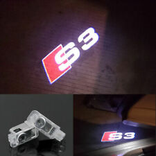 2 Audi S3 Logo LED Laser Projector Car Door Welcome Ghost Courtesy Shadow Light