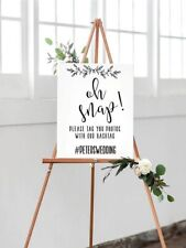Oh Snap, Social Media, Instagram - wedding, party occasion, birthday sign