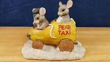 Charming Tails Pear Taxi Yellow Silvestri Mouse Mice