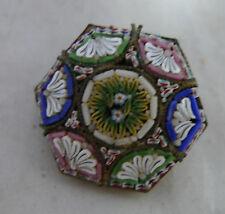 Antico dorati in metallo e i micro mosaico Spilla AF 2.4cm 6.6g A667217