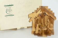 Erzgebirge Krippe Heilige Familie Holzfiguren Weihnachten Weihnachtskrippe Holz