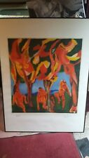 Original Sandro Chia Limited Edition Lithograph Signed framed glass