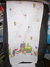 """""WINE JUGS & GLASSES TABLE RUNNER"""" - JOHN WOLF TEXTILES"