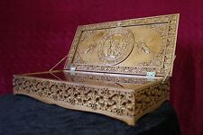 Reliquary box Orthodox Carved Wooden. Rare! Large size.