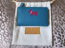 Radley Turquoise Blue leather Médium Purse New Without Tags