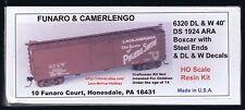 Funaro F&C 6320 DELAWARE LACKAWANNA WESTERN  D&LW  Boxcar 40' DS 1924  Resin Kit