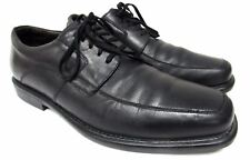 Johnston & Murphy Sheep skin men's size 9.5 M black leather shoes dress oxford