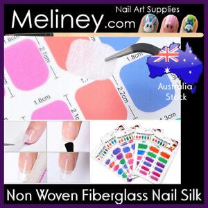Non Woven Fiberglass Nail Silk Wrap Extension Nails Repair Precut Tip Fiber Gel