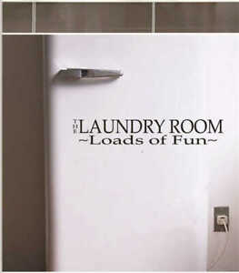 Black Bathroom Vinyl Decal Laundry Room Wall Decor Living Room Tile Stickers