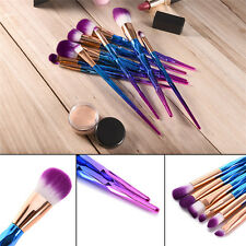 10pcs Frosted Handle Foundation Eyeshadow Brush Cosmetic Brush Makeup Brush Set