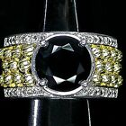 LDN_Luxeuse Bague Onyx Diamants Argent 925 Or 14K_T54