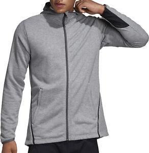 adidas Freelift Prime Mens Training Hoody Grey Gym Running Workout Hoodie