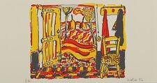 Luigi Viola Zimmer Grafik Druck Bild 18x34cm handsigniert