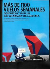 """DELTA AIR LINES & AEROMEXICO """"MAS DE 1100 VUELOS SEMANALES"""" 757 TAILS AD"""