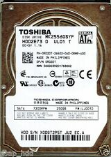 TOSHIBA 250GB MK2556GSYF  HDD2E73 D UL01 T   LJ001D