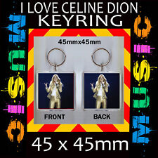 CELINE DION - IMAGE KEYRING- KEY CHAIN-45X45MM.- GREAT GIFT FOR A FAN #2