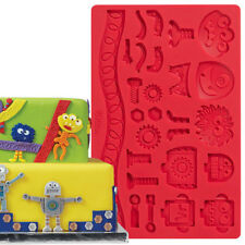 Robots Monsters Fondant Gum Paste Mold Molds Wilton Cake Decoration