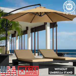 Umbrella Canopy Cover Waterproof UV Resistant Sunshade Outdoor Beach Garden Tent