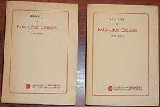 OEUVRES de PAUL-LOUIS COURIER Belle édition Garnier Selecta numérotée Lafuma