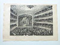 1885 Xilografía: Madrid Sala del Nuevo Teatro de la Princesa noche inauguracion