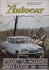 Autocar magazine 7/7/1961 featuring Dodge Dart Phoenix road test, Ferguson P99